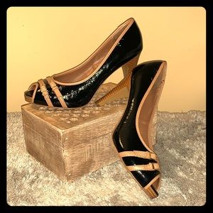 NEW Candie's Black and Tan patent heels